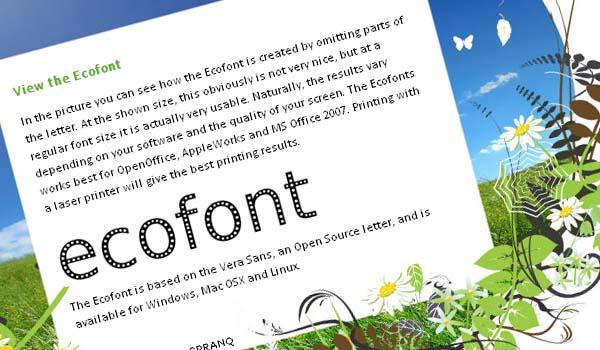 È nata Ecofont per risparmiare inchiostro…