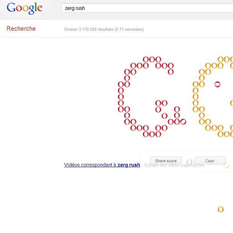 """Chi gioca con Google? Hai cercato """"zerg rush""""?"""