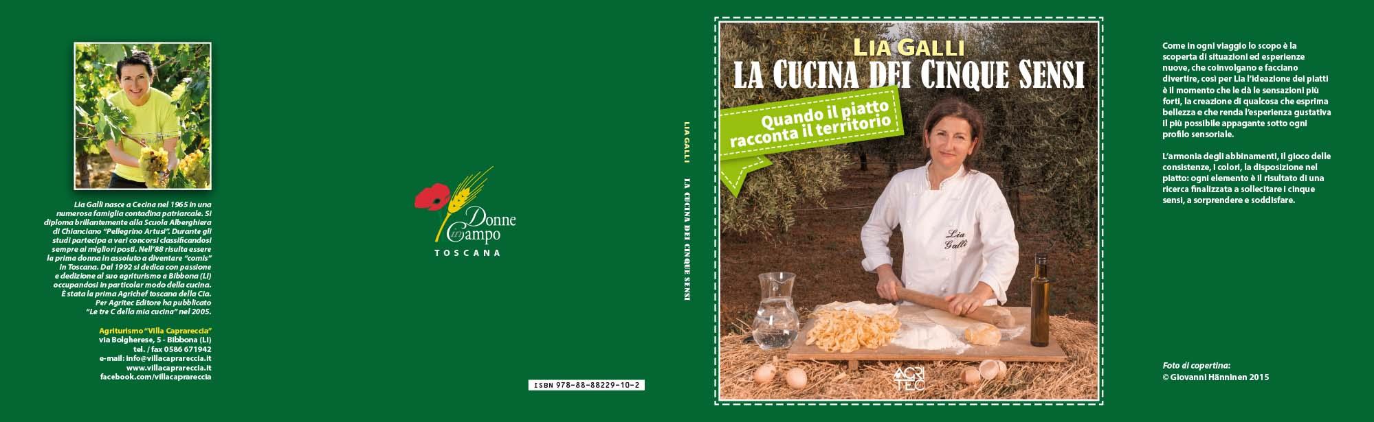 Lia Galli, La cucina dei cinque sensi, copertina