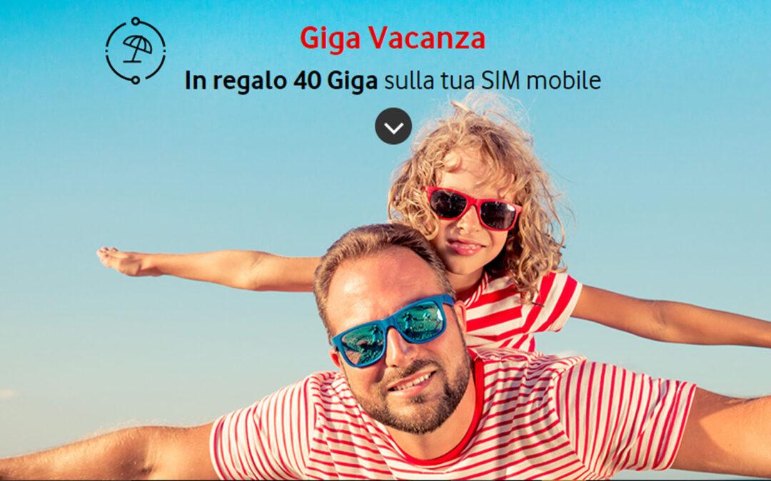 Da Vodafone 40 Giga per chi ha l'abbonamento Fibra o ADSL
