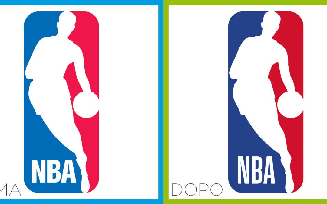 Ritocchi al logo NBA. Più magro e slanciato…