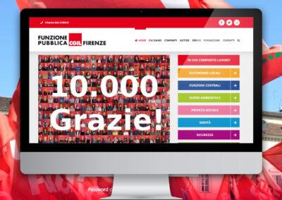 Funzione Pubblica CGIL Firenze. Sito internet