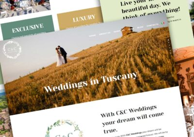 C&C Weddings in Tuscany. Sito internet