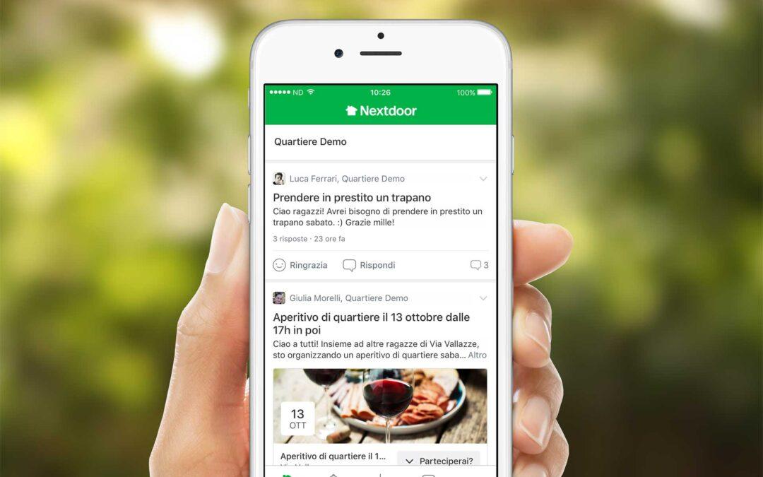 La app di quartiere Nextdoor Italia festeggia il primo compleanno. Arrivano anche le pagine aziendali