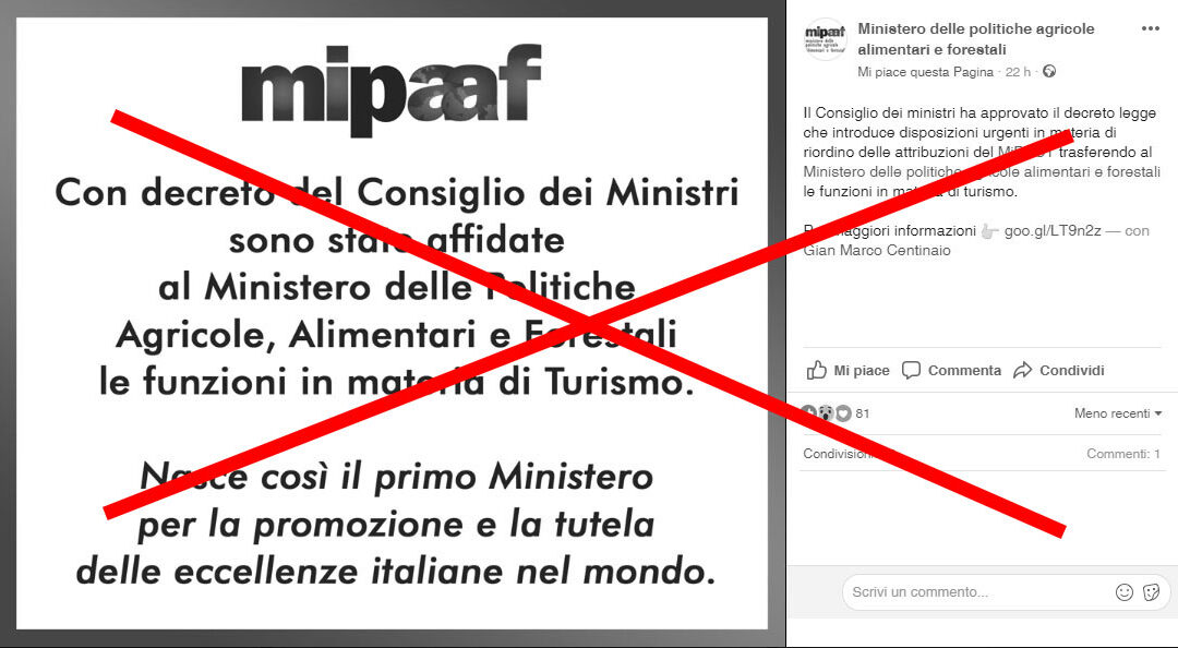 Ri-cambia nome il Ministero delle politiche agricole. Torna Mipaaf senza la lettera T
