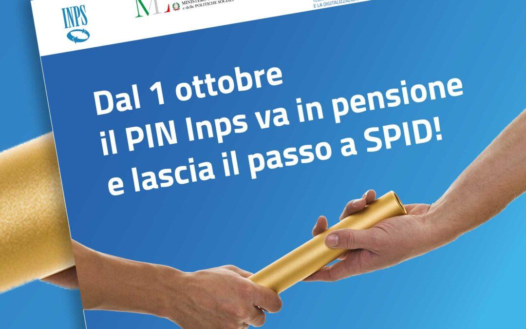 Inps. Il PIN va in pensione dal 1° ottobre e lascia il passo a SPID