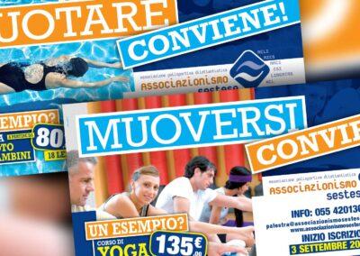 Associazionismo Sestese. Campagna pubblicitaria palestre e piscina autunno 2012