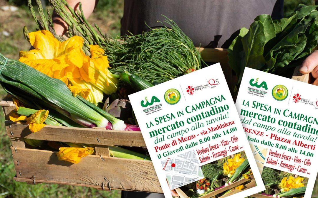 Filiera corta, mercati contadini Spesa in Campagna Cia aprono a Firenze. Il 2 settembre inaugurazione a Novoli, il 4 a Campo di Marte